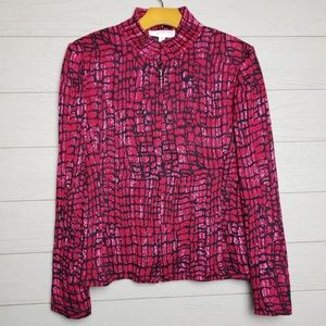 St. John Collection Red and Black  jacket size 10